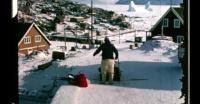 Playing on the ice near Uummannaq