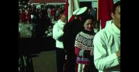 Visitors leaving Qaqortoq